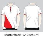 sport polo shirt design stand... | Shutterstock .eps vector #642225874