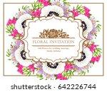 vintage delicate invitation... | Shutterstock . vector #642226744