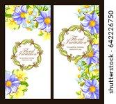 vintage delicate invitation... | Shutterstock .eps vector #642226750