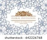 vintage delicate invitation... | Shutterstock . vector #642226768