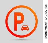 parking sign illustration....   Shutterstock .eps vector #642227758