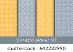 set of 4 seamless geometric... | Shutterstock .eps vector #642232990
