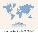 world map represented by blue... | Shutterstock .eps vector #642233743