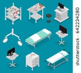 surgery icons set isometric... | Shutterstock .eps vector #642234280
