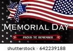 happy memorial day background... | Shutterstock .eps vector #642239188