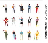 job uniform man character set... | Shutterstock .eps vector #642241354