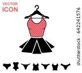 set of lingerie vector icon on... | Shutterstock .eps vector #642241576