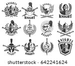 set of knight emblems. design... | Shutterstock .eps vector #642241624