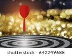 target dart with arrow over... | Shutterstock . vector #642249688