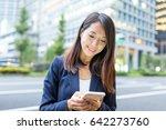 businesswoman working on... | Shutterstock . vector #642273760