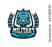 colorful emblem  logo  military ... | Shutterstock .eps vector #642280930