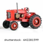 red toy tractor | Shutterstock . vector #642281599