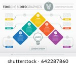 vector infographic of... | Shutterstock .eps vector #642287860