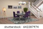 interior dining area. 3d... | Shutterstock . vector #642287974