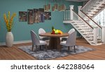interior dining area. 3d... | Shutterstock . vector #642288064