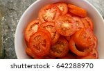 tomato slice   Shutterstock . vector #642288970