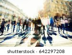 crowd of anonymous people... | Shutterstock . vector #642297208