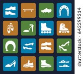 shoe icons set. set of 16 shoe... | Shutterstock .eps vector #642299314