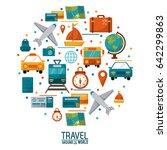 travel around the world concept ... | Shutterstock .eps vector #642299863