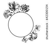 frame design. flower drawing by ... | Shutterstock .eps vector #642300154