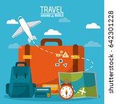 travel around the world.... | Shutterstock .eps vector #642301228