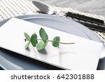 beautiful festive table setting ... | Shutterstock . vector #642301888