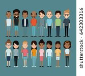 cartoon people caucasian and... | Shutterstock .eps vector #642303316