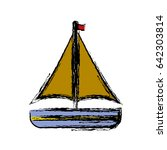 sailboat icon image | Shutterstock .eps vector #642303814