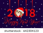 happy new year 2018 greeting... | Shutterstock . vector #642304123