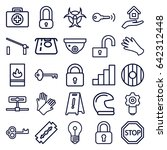 safety icons set. set of 25... | Shutterstock .eps vector #642312448