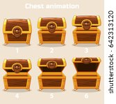 animation antique old box  step ...
