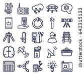 technology icons set. set of 25 ... | Shutterstock .eps vector #642315133