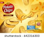 potato chips advertisement ... | Shutterstock .eps vector #642316303