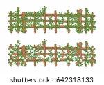 Vector Green Garden Wall With...