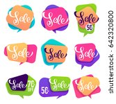 sale bubbles  banners and... | Shutterstock .eps vector #642320800
