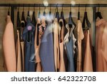 fashionable clothes in a... | Shutterstock . vector #642322708