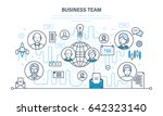 business team  teamwork... | Shutterstock .eps vector #642323140