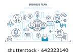 business team  teamwork... | Shutterstock .eps vector #642323140