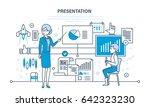 business seminar speaker woman... | Shutterstock .eps vector #642323230