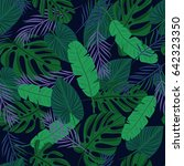 seamless tropical pattern with... | Shutterstock .eps vector #642323350