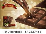 hazelnut flavor chocolate ad ... | Shutterstock .eps vector #642327466