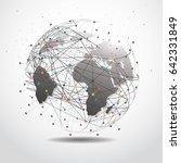 global network connection.... | Shutterstock .eps vector #642331849