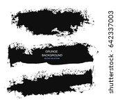 large grunge elements set.... | Shutterstock .eps vector #642337003