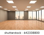 3d rendering empty office space ... | Shutterstock . vector #642338800