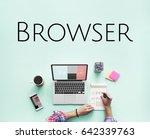 browser website template layout ... | Shutterstock . vector #642339763
