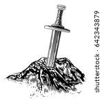 a vintage style illustration of ... | Shutterstock .eps vector #642343879