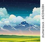 summer vector illustration  ... | Shutterstock .eps vector #642346384