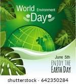 enjoy the earth day green... | Shutterstock .eps vector #642350284