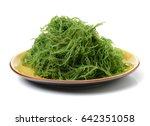 fresh green seaweed | Shutterstock . vector #642351058