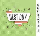 best buy. retro design element...   Shutterstock .eps vector #642357988